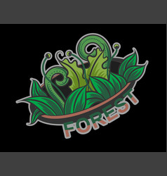 Forest emblem vector
