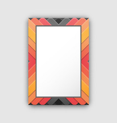 frame pattern with lines of red and black colors vector image