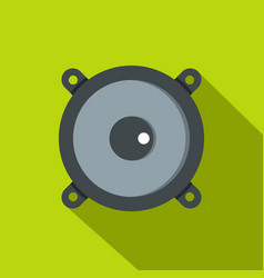 Frontal audio speaker icon flat style vector