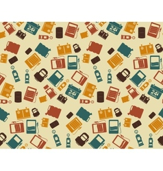 Gas Station background pattern and icon vector image