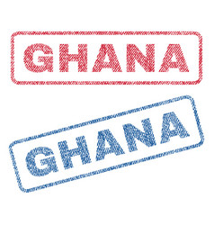 Ghana textile stamps vector