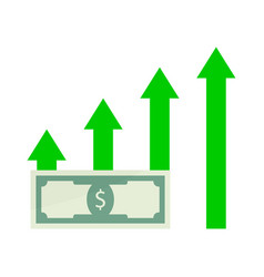 growth salary money vector image