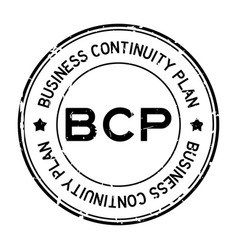 Grunge black bcp abbreviation business continuity vector
