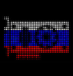 Halftone russian video gpu card icon vector