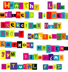 Healthy life background vector