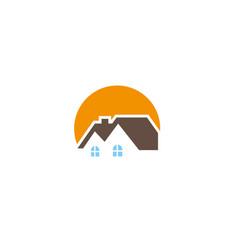 home sun house care logo icon symbol sign vector image