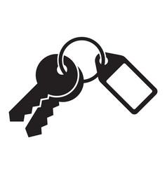 House key isolated on white background vector