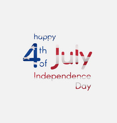Independence day of the usa on july 4 inscription vector