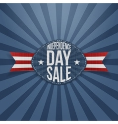 Independence Day Sale scratched Badge vector image