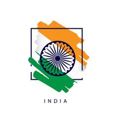 India brush logo template design vector