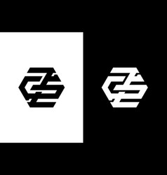 Initial clean and minimal zg logo vector
