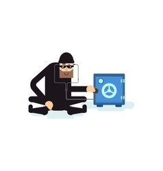 isolated thief hacks safe vector image
