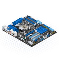 Isometric Motherboard vector image