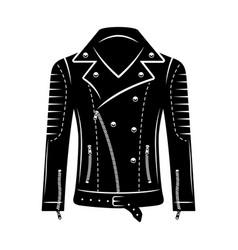 leather biker jacket object or design vector image