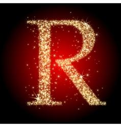 letter star r vector image