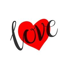 love heart shape design for love symbols vector image