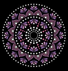Mandala dot painting design aboriginal vector