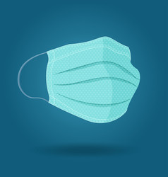 medical protective mask vector image