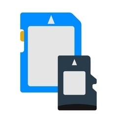 Micro sd memory card data digital storage vector