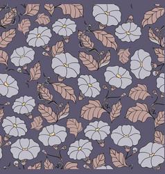 Midnight garden seamless pattern vector