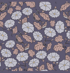 Midnight garden seamless pattern with vector