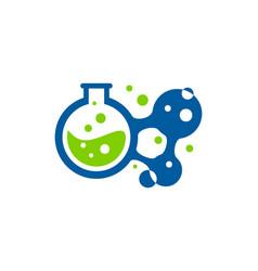 molecule science lab logo icon design vector image