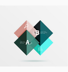 Overlapping square infographics vector