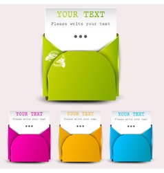 paper sheets with envelopes for text vector image
