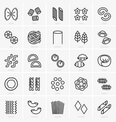 pasta shape set vector image