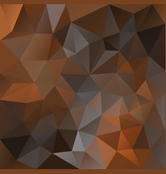 Polygonal square background chocolate caramel vector