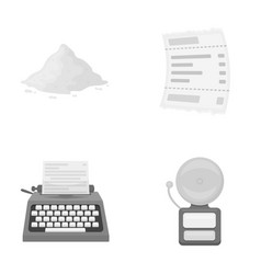 printing business health and other monochrome vector image