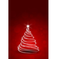 Red christmas card template vector