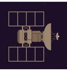 satellite in space orbit navigation communication vector image