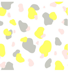 seamless pattern of yellow gray and pink spots vector image