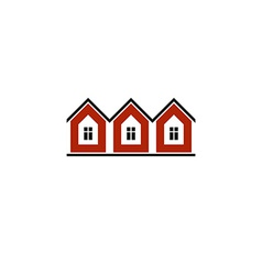 Simple cottages country houses for use in graphic vector image