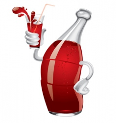 Soda bottle vector