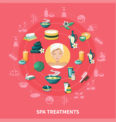 spa resort flat icons composition vector image