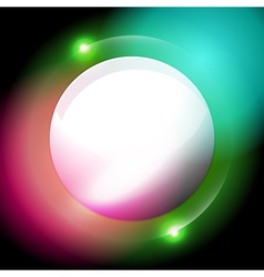 Sphere abstract glowing background vector