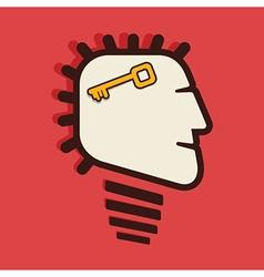 success key in human head vector image