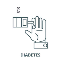 sugar blood leveldiabetes line icon vector image