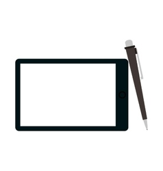 tablet and pen icon vector image