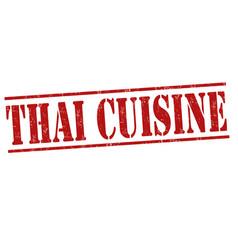 thai cuisine stamp vector image