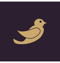 The bird icon Nature symbol Flat vector
