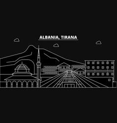 Tirana silhouette skyline albania - tirana vector