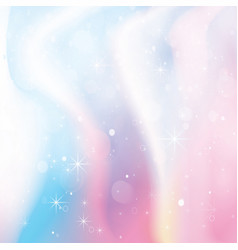 Unicorn holographic color gradient background vector