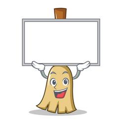 up board broom character cartoon style vector image