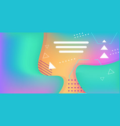 Web template with blank bars dynamical colorful vector