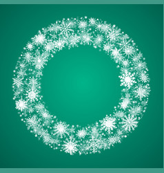 Winter wreath snowflakes new year or christmas vector