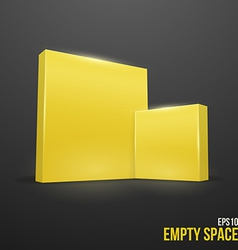 Yellow boxes vector image vector image