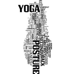 yoga posture text word cloud concept vector image